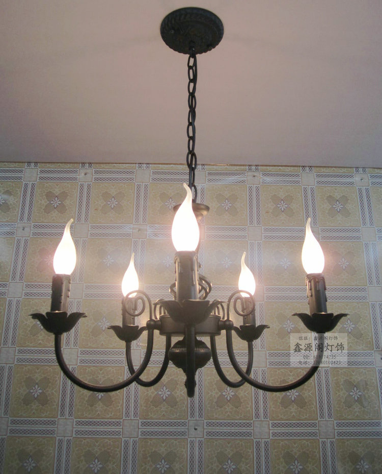 5 Bulbs European Candle Metal Chandeliers Ceiling Bedroom Living Room Modern E14 Retail and Wholesale lateness and modern european literature