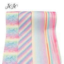 JOJO BOWS 75mm 2y Glitter Ribbon Sparkly Rainbow Webbing Home Decoration DIY Hair Bow Apparel Sewing Gift Packing DIY Supplies недорого