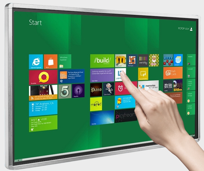 70 84 98 Inch TFT led LCD Full HD Touch Interactive panel display tv Computer all in one PC ad wireless teaching kiosk