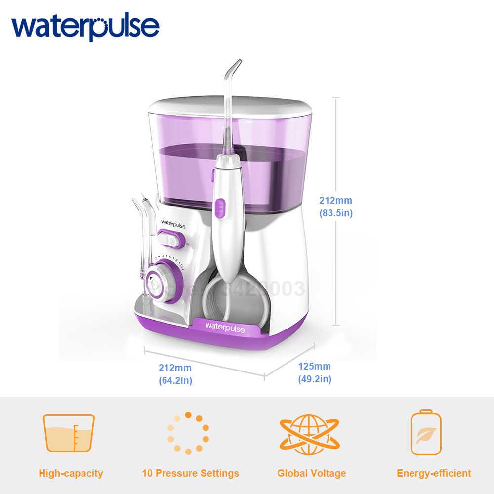 Waterpulse V300R Flosser Eau avec 5 Buses Irrigateur Oral Électrique Capacité de 800ml  Flosser Dentaire 20-120PSI pour Hygiène Buccale de la Famille