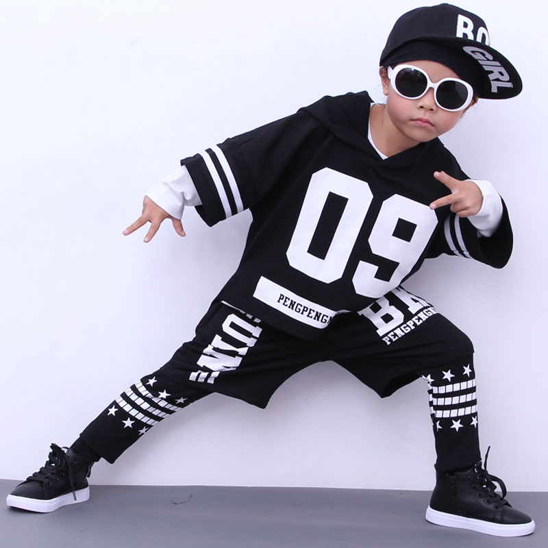 15947062202 Autumn Boys Girls 4 Pieces Street Dance Clothing Set Kids Sport Suits for  Children Teenagers Tracksuit