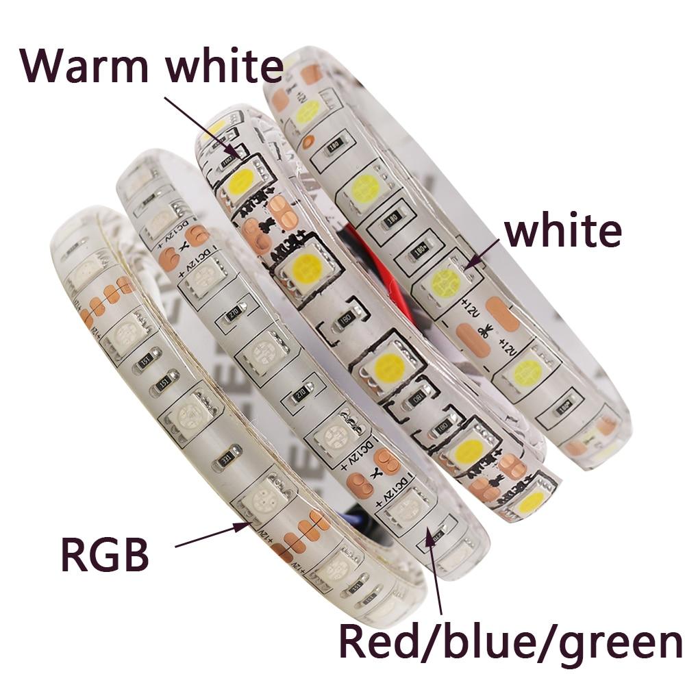 5050 Светодиодные ленты RGBW dc12v светодиодный гибкий свет RGB белый/теплый белый/синий/красный красочные полосы, 5 м 300 светодиодный S 60 Светодиодн...