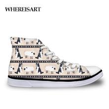 WHEREISART Retro 2019 Women Vulcanize Shoes