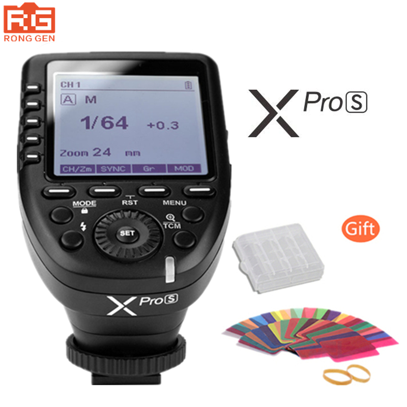 In stock Free DHL Godox XPro-S 2.4G Wireless X-System E-TTL II HSS Flash Trigger Transmitter LCD Screen for Sony DSLR Camera godox x1t s ttl 2 4g wireless trigger for sony 2x xtr 16s flash receiver for v850 v860 c v850ii v860iic v860n v860ii f v850ii