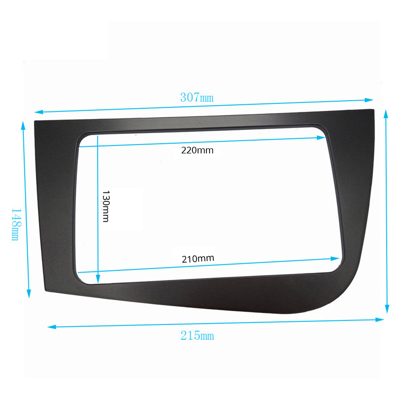 DOUBLE 2 DIN Stereo GPS Car DVD FRAME Radio Fascia for SEAT Leon (LHD) Left Hand Drive stereo face plate panel dash mount kit