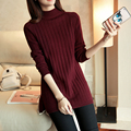 New 2017 Autumn-Winter Women Sweaters and Pullovers Turtleneck Knitted Sweater Outerwear Pullover Tops Knitted  Sweater