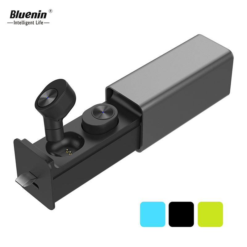 Bluenin True Draadloze Hoofdtelefoon Sport Bluetooth V4.2 Oordopjes Best In Ear Draadloze Koptelefoon met Opladen Case voor huawei p9 lite