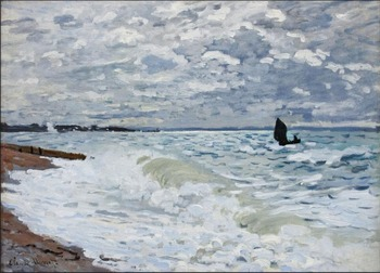 High quality Oil painting Canvas Reproductions The Sea at Saint-Adresse (1868)  By Claude Monet hand painted