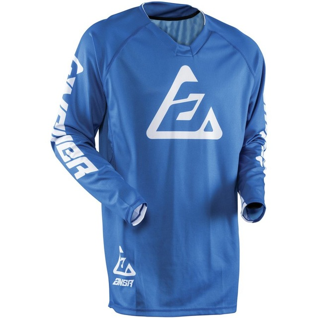 Blue Motocross T shirts Mountain Bike Motorcycle Long Sleeve Motorbike Shirts Clearance Sales in Cycling Jerseys from Sports Entertainment