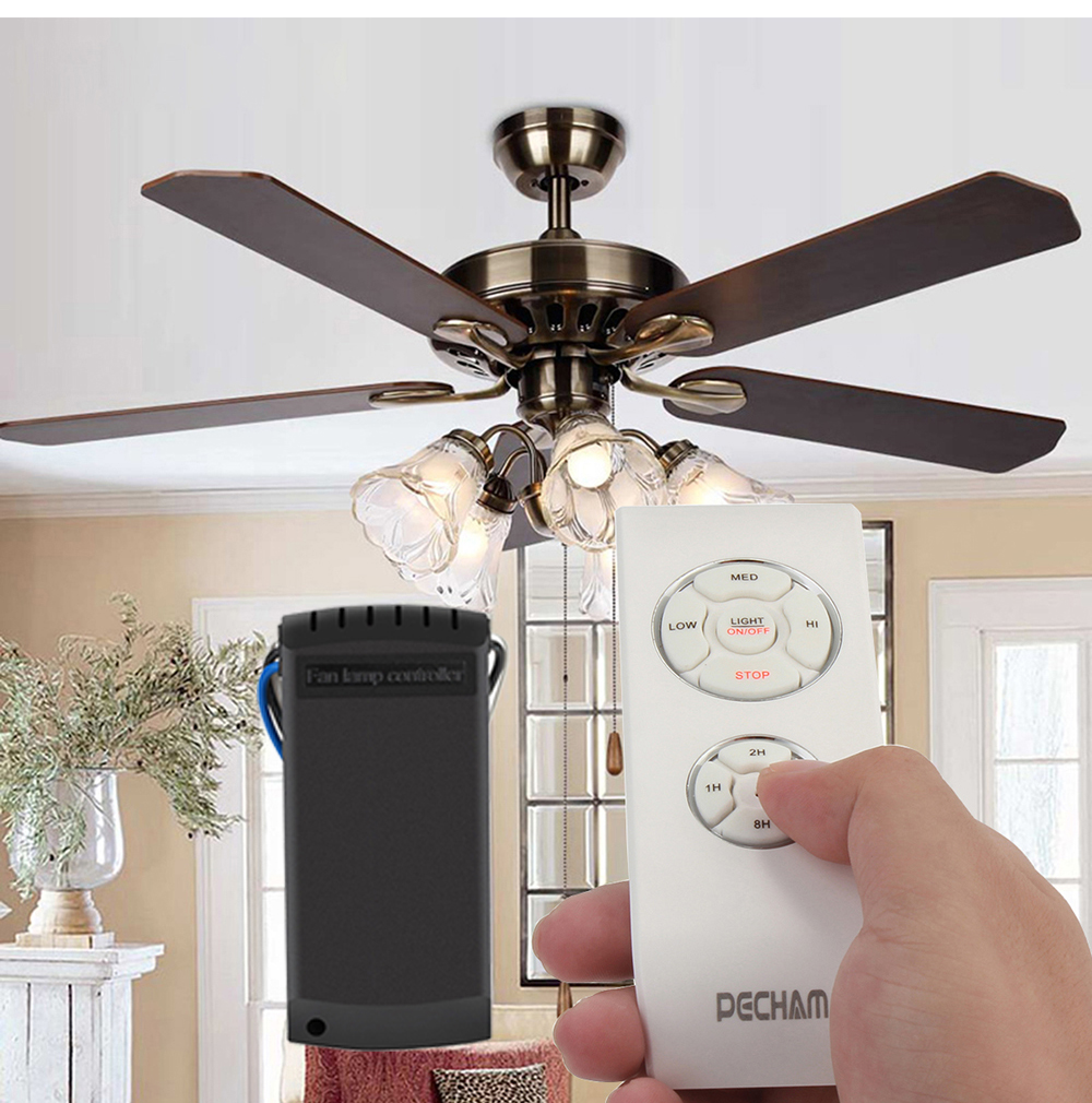 Universal Wireless Ceiling Fan Lamp Remote Controller Kit Timing For Incandescent Led Energy Saving 110v 220v In Controls From