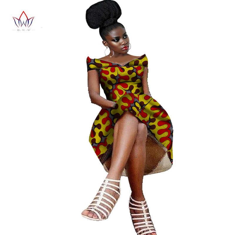 1a23289a9eb 2019 Summer women Party Dress Wax Print Dashiki Dresses for Women  Traditional African Clothing lolita cotton
