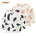 Baby Animal T-shirt Spring 2017 Cute Cartoon Bear Kids Bottoming Shirt For Boys & Girls Casual Children T-shirts Toddler Costume