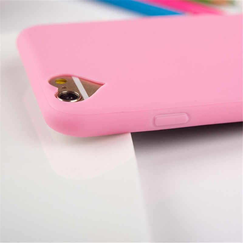 Мода конфеты Цвета Мягкие силиконовые чехлы из ТПУ для телефонов для iphone 6S случае Coque 5 5S SE 7 Plus чехлы крышка Celular для iphone 6