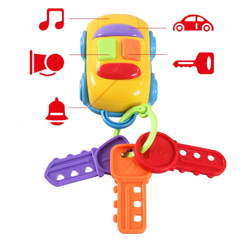 Baby Toy Musical Car Key Toy Smart Remote Car Voices Pretend Play Education Toy