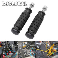 BJGLOBAL Motorcycle CNC Universal Motorcycle Footrests Footpeg Foot Pegs Foot Pedals For M8 Rearsets for Yamaha Honda