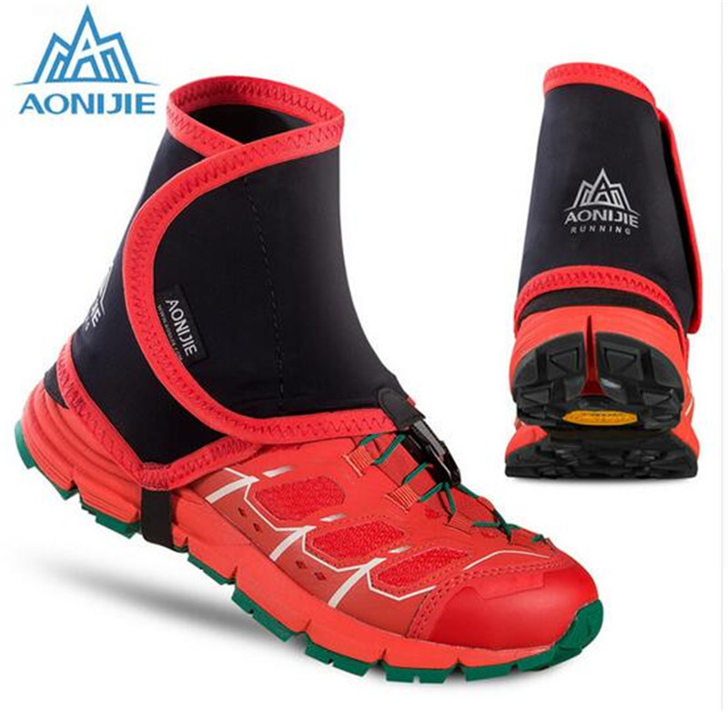 AONIJIE Low Trail Running Gaiters Protective Wrap Shoe Covers Pair For Men Women Jogging Marathon Hiking Cycling