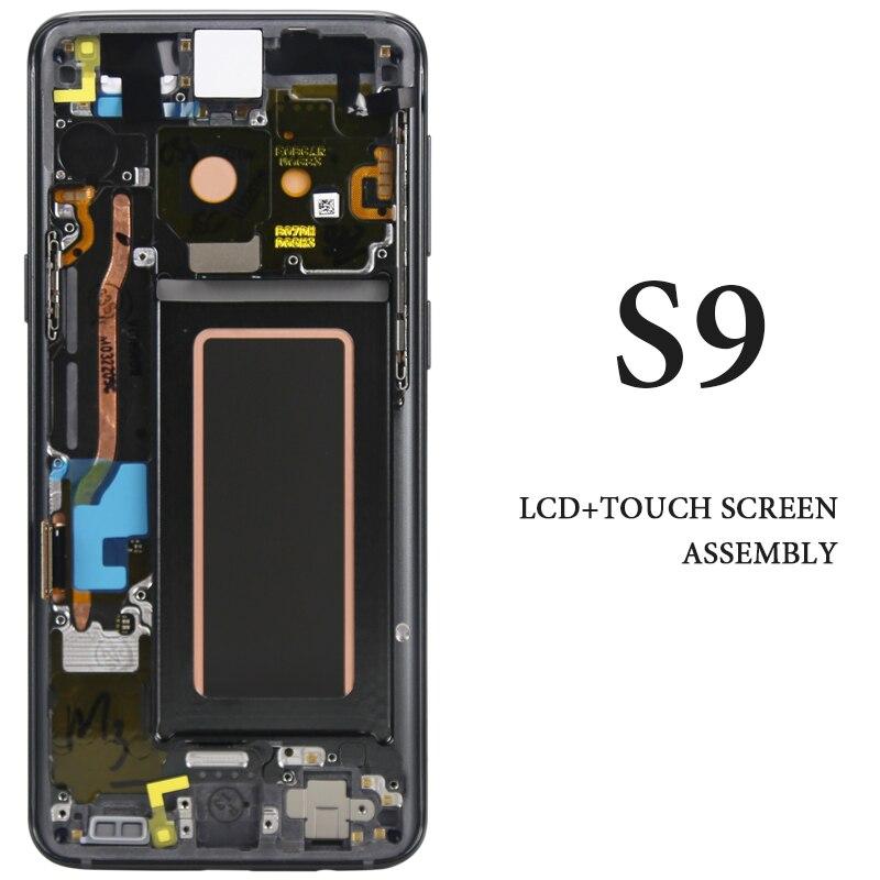 Мобильный телефон замена запасных Панель для samsung Galaxy S9 ЖК дисплей Дисплей с рамкой G960 G960F AMOLED Сенсорный экран сборки Запчасти