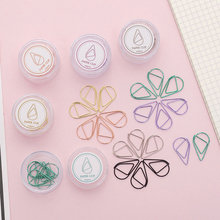 10Pcs/lot Cute Simple Water Drop Shape Paper Clip Metal Bookmark Office Statioinery School Supply Home Decoration