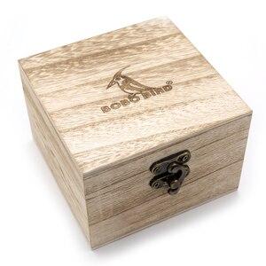 Image 5 - BOBO VOGEL Ebenholz Holz Uhr Herren Holz Datum Handgelenk Uhren Uhren in Holz Box relogio masculino Akzeptieren Logo Drop Verschiffen