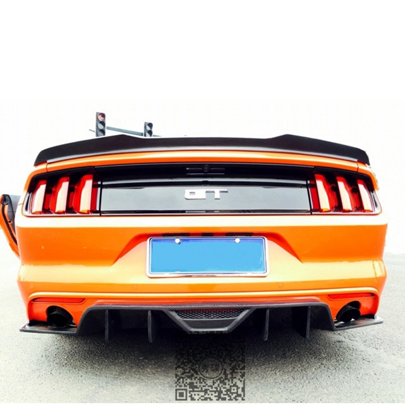 Ford Mustang ABS rear trunk spoiler wings for ford mustang 2-door 2015+ lip lid spoiler mustang майка print bar ford mustang shelby gt500