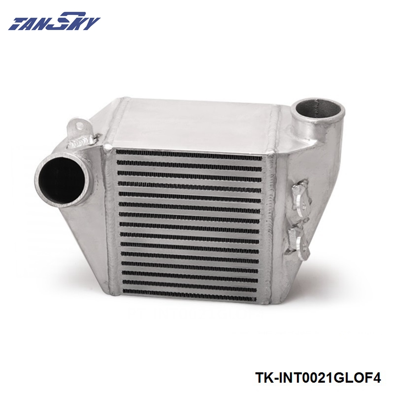 TANSKY - For VW Jetta 1.8T Engine GOLF BOLT ON ALUMINUM SIDE MOUNT INTERCOOLER TURBO CHARGE PIVOT TK-INT0021GLOF4 epman universal aluminum water to air turbo intercooler front mount 250 x 220 x 115mm inlet outlet 3 5 ep sl5046d