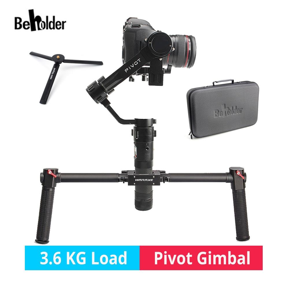 Beholder PIVOT 3 Axis Handheld DSLR Camera Gimbal Stabilizer for DSLR Mirrorless Camera Canon Nikon Sony PK Zhiyun Crane IKAN beholder ds1 3 axis handheld gimbal stabilizer for a7s canon 6d 5d 7d dslr camera