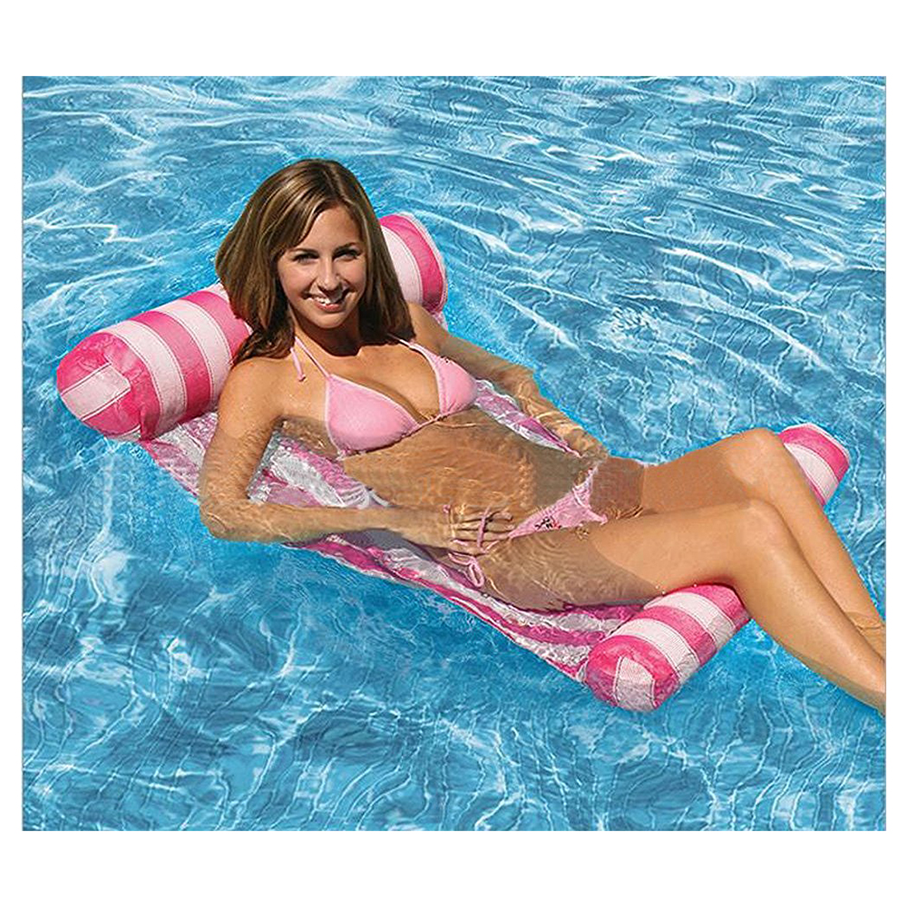 2018 New Premium Swimming Pool Floating Water Hammock Lounge Chair intex pacific paradise lounge marine intex 58286 chaise lounge water floating row floating bed water