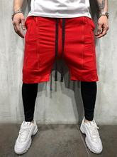 FRMARO New mens sport shorts 2 in 1 quick dry training jogging fitness nine point lining