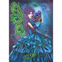 Beautiful Girl 5D Special Shaped Diamond Painting Embroidery Needlework Rhinestone Crystal Cross Crafts Stitch Kit DIY