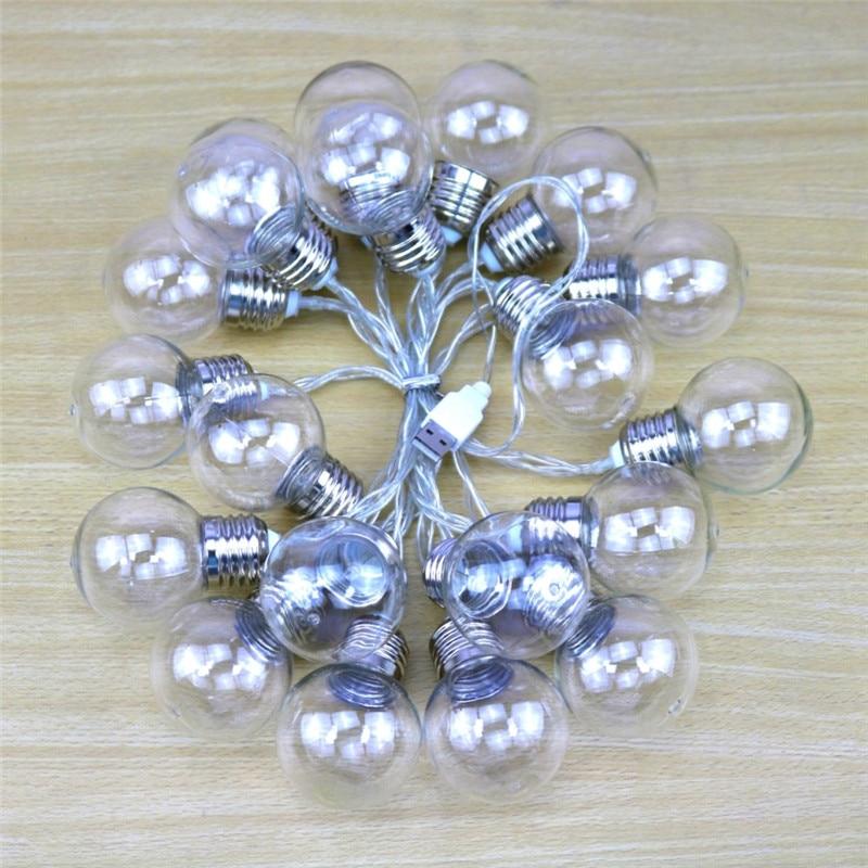 Image 5 - 20 led wedding string fairy lights bulb LED globe battery and USB style led fairy string light for outdoor garden garland-in LED String from Lights & Lighting on
