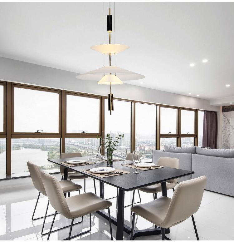 HTB1GpXWeouF3KVjSZK9q6zVtXXa7 - Modern Acrylic LED Pendant Light Shadow Dining Room Kitchen Light Designer Hanging Lamps Indoor Lighting