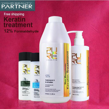 PURC 12% Brazilian Keratin Protein Treatment Purifying Hair Care and Straightening Shampoo