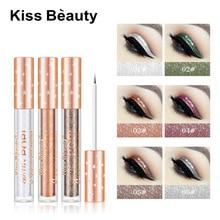 KissBeauty Makeup Glitter Eyeliner Liqiud Eye Cosmetic Silver Green Gold Purple Shiny Colors for Highlight Eyeshadow