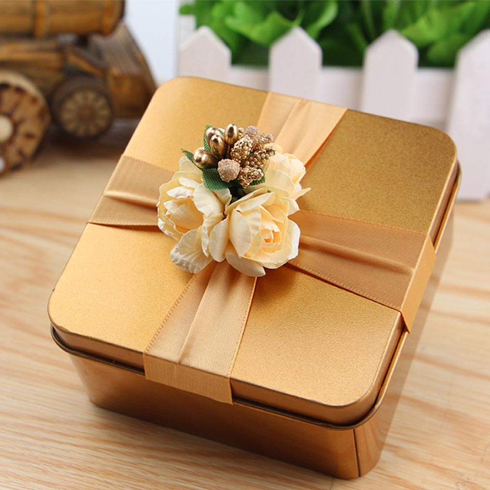 12pcs/set Creative Tea Can Gift Box Large Heart Round Square Shaped Mantal Candy Box Wedding Gift Box Tinplate For Baby Shower
