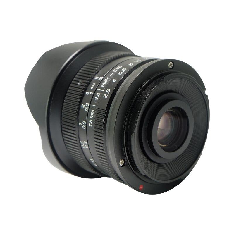 7.5mm F2.8 Lente Fisheye di 180 Gradi Angolo di Applicare a Tutti I Singoli Series per Sony E Mount Micro 4/3 Canon EOS-M Telecamere