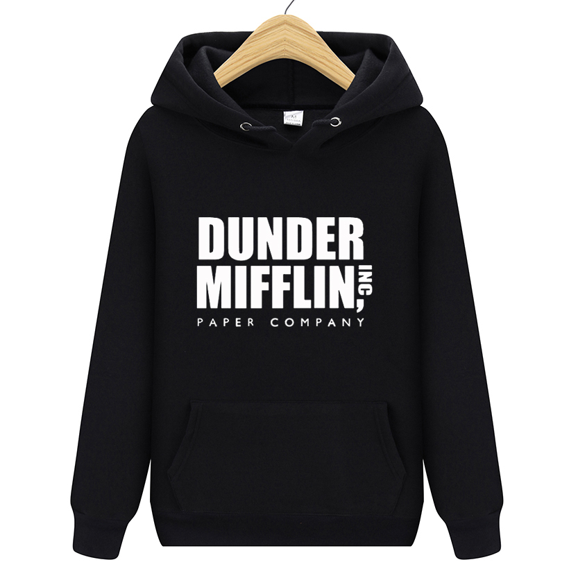 Qualified Man Woman The Office Tv Show Dunder Mifflin Inc Paper Company Wernham Hogg Michael Scott Space Fleece Hoodies Hoody Sweatshirts Men's Clothing