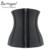 Burvogue mujeres látex transpirable cintura trainer control de la hebilla de la cremallera de la cintura de underbust del corsé más del tamaño del corsé del hueso de acero
