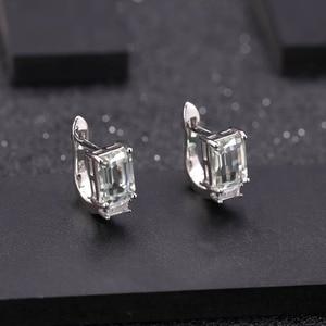 Image 5 - GEMS BALLET 925 ensemble de bijoux en argent Sterling pour les femmes naturel octogone vert améthyste boucles doreilles anneau pendentif ensemble de beaux bijoux
