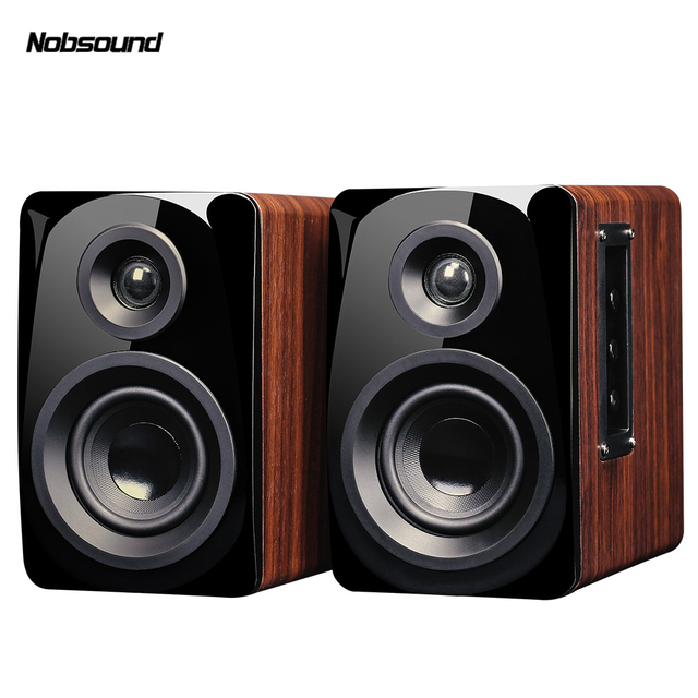 Nobsound M100 Wood Active HiFi Boxes 20 Wired Portable Combination Speaker Column Computer 60W Laptop