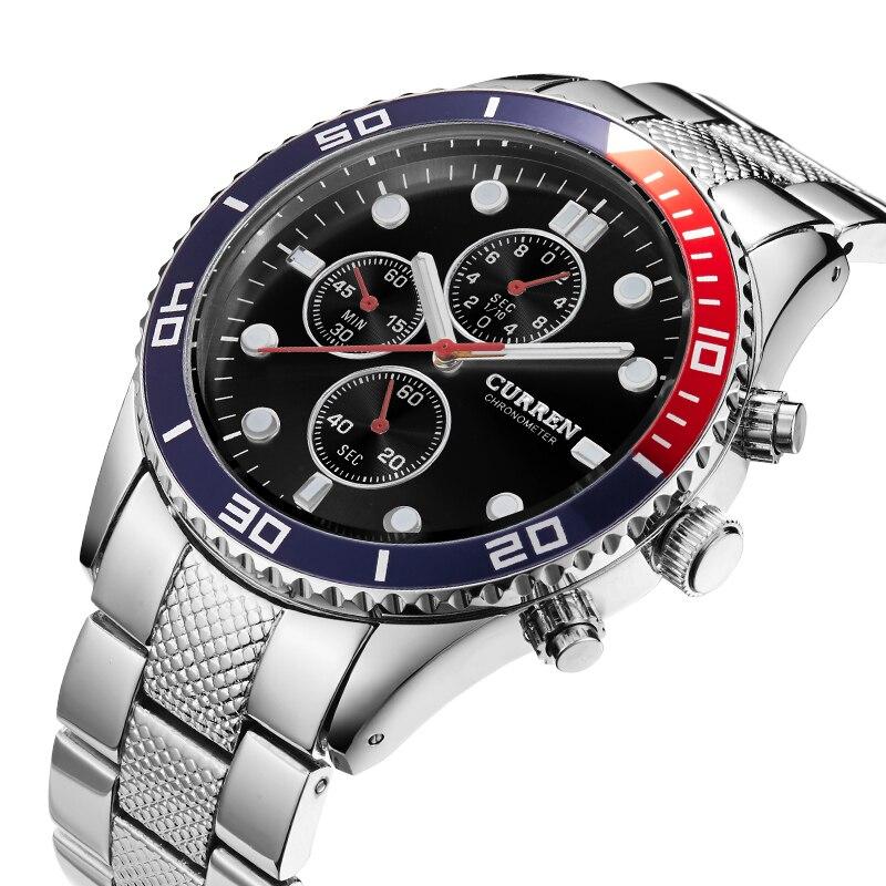 цены Curren Brand Watches Men Luxury Brand Analog Steel Case Men's Quartz Sports Watches Man Army Military Wrist Watch male relogio