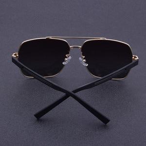 Image 2 - 2019 High Quality Square Sunglasses Men Polarized UV400 Sport Sun Glasses For Male Driving Gold Frame Retro oculos With Box