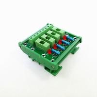 DIN Rail Mount 4 Position Fuse Power Distribution Module Board