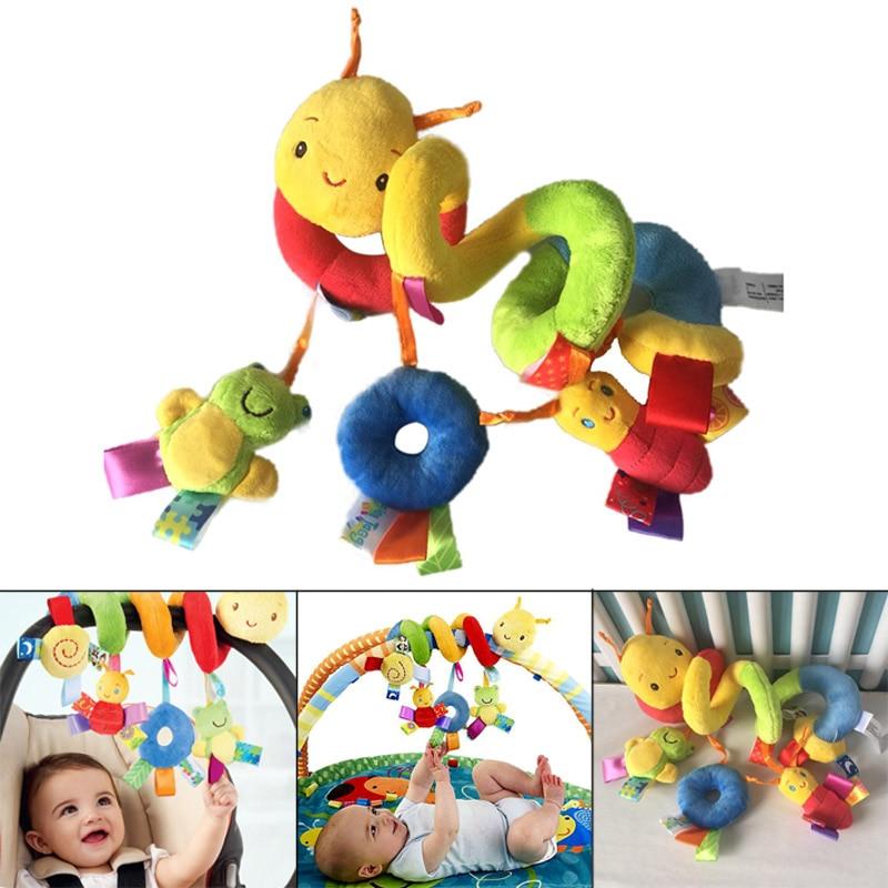 Hot Selling Baby Mobile Crib Music Toy Kid Crib Cot Pram Ringing Bed Bells Spiral Rattles Toys