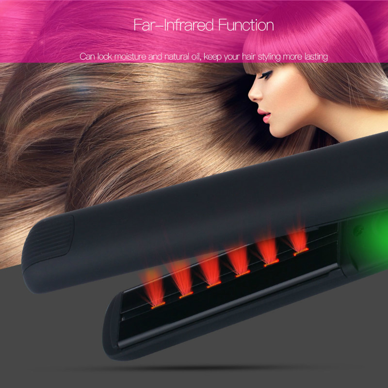 Professional Ceramic LED Digital Hair Straightener MCH 3D Floating Wide Plate Flat Iron Anion Ionic Infrared Hair Straightening kemei professional ionic flat iron electric ceramic anion hair straightener curler straightening irons adjustable temperature