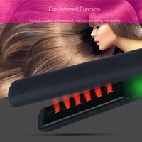 Professional Ceramic LED Digital Hair Straightener MCH 3D Floating Wide Plate Flat Iron Anion Ionic Infrared