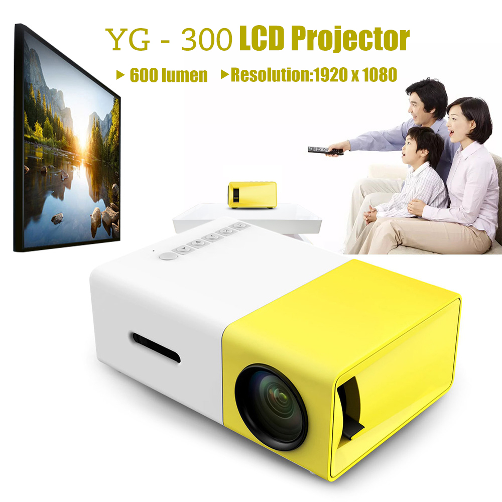 YG300 YG - 300 LCD Projector Full HD Video Projector LED 600LM 320 x 240 1080P Mini Proyector for Home Theater Media Player  цены онлайн