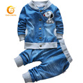 2015 New Fashion Baby Boys Clothing Set Spring/Autumn Children Cotton Clothes Set Kids Boys Cowboy Coats +Jeans 2pcs Suit