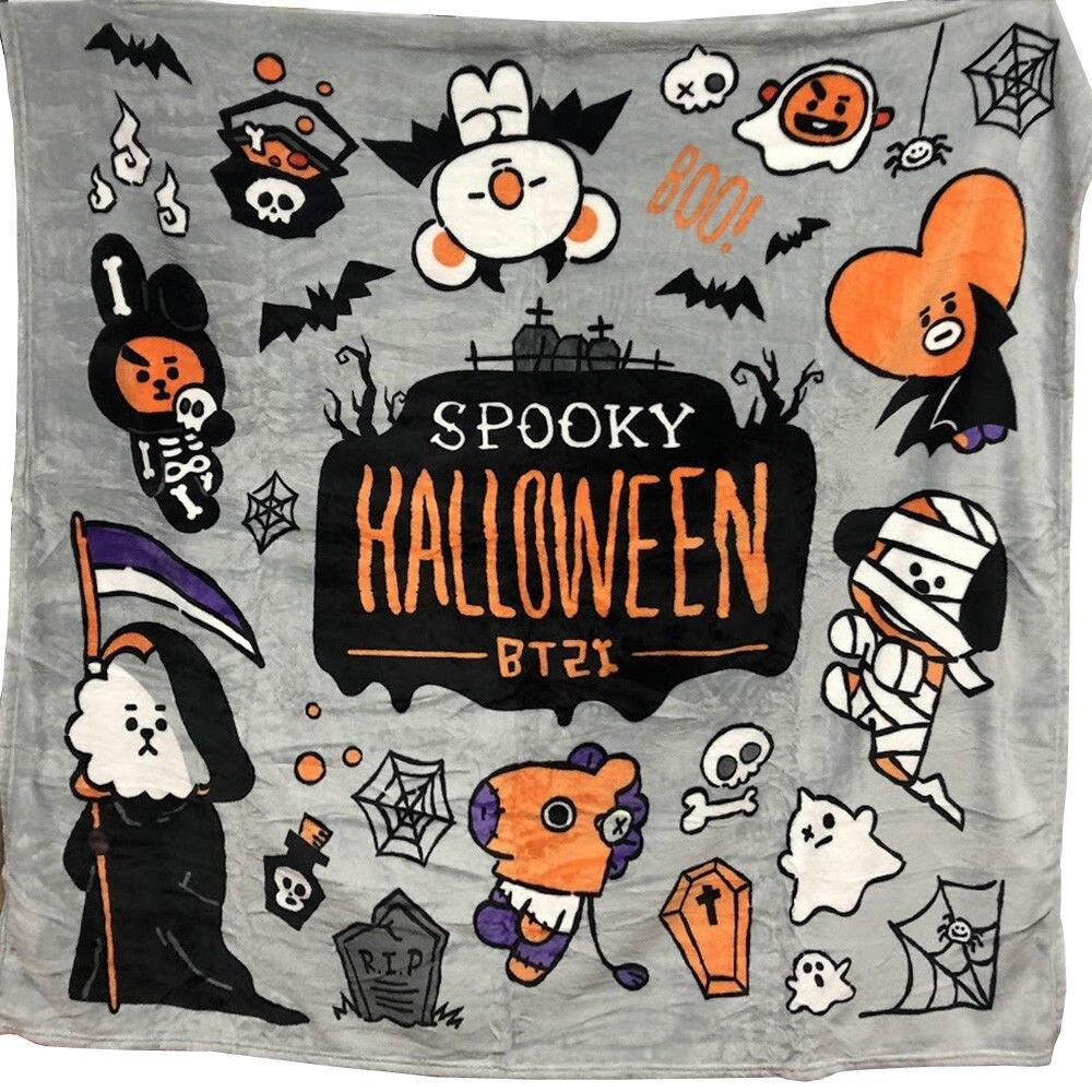 Kpophome für bangtan boys um BTS Halloween BT21 gleiche Q version cartoon TATA COOKY CHIMMY plüsch Druck nickerchen decke