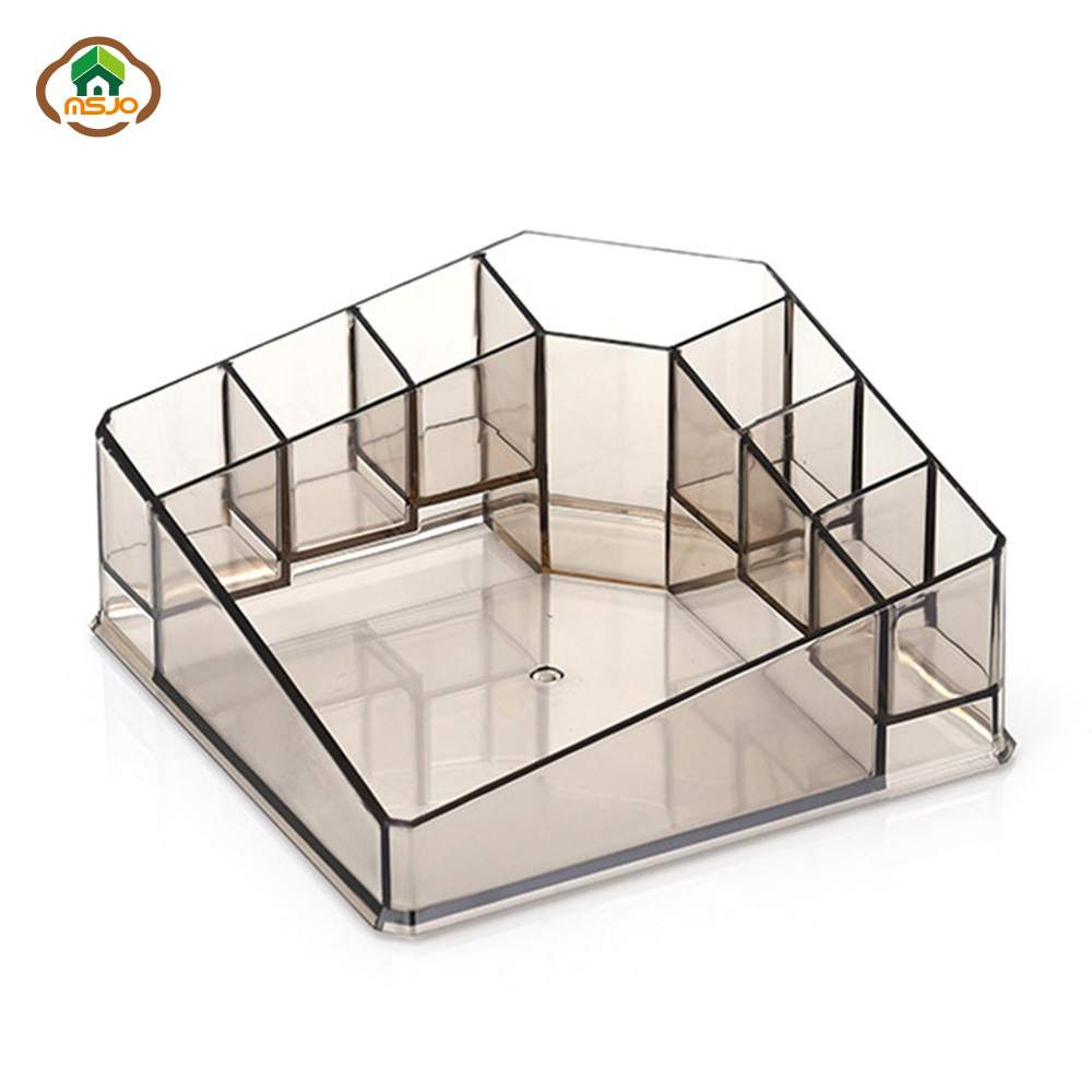 MSJO Plastic and Transparent Makeup Organizer to Organizer Jewelry Nail Polish Lipstick suitable for Office Desk and Dressing Table 4