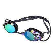 Очки для плавания для мужчин и женщин, высокое разрешение, водонепроницаемые, противотуманные, гальванические линзы, очки для взрослых, очки для соревнований, горячая распродажа